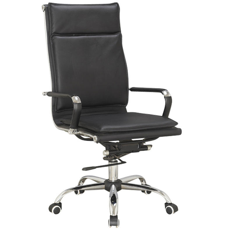 Luxury High Back Soft Pad PU Leather Swivel Chair Office Desk Chair