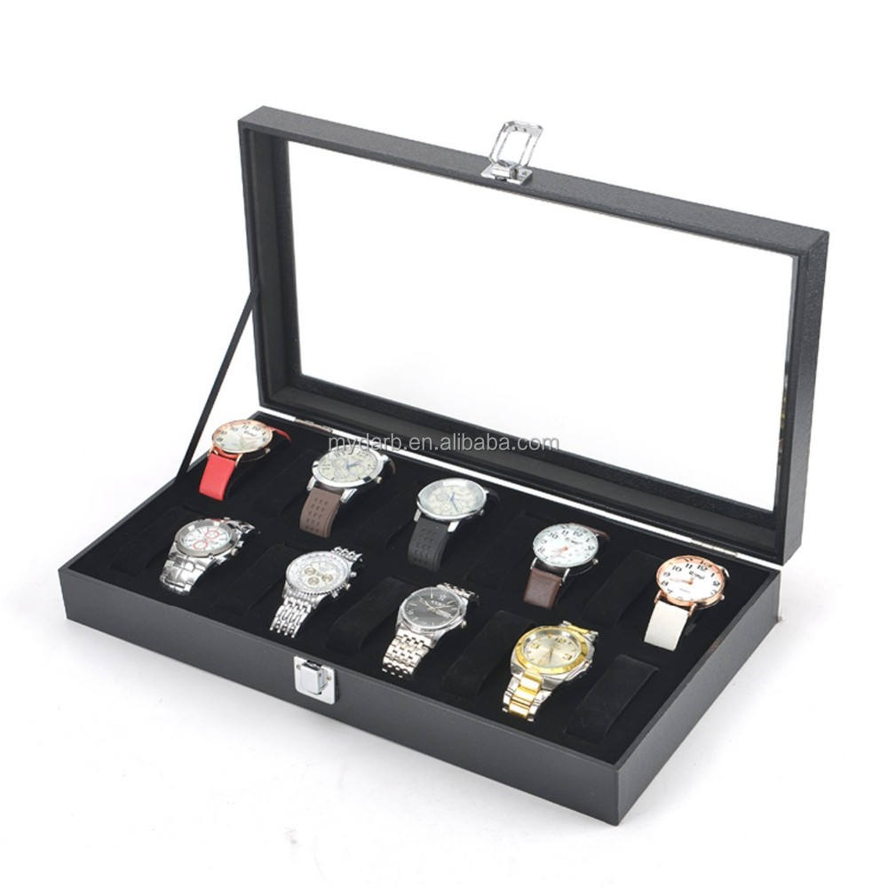 Black 9 Watch Box Watch Travel Tray Watch Case Jewelry Organizer