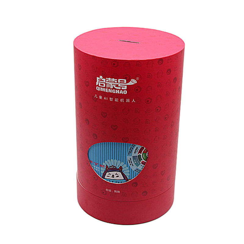 colorful kraft cardboard paper cylinder kids toy storage tube gift box