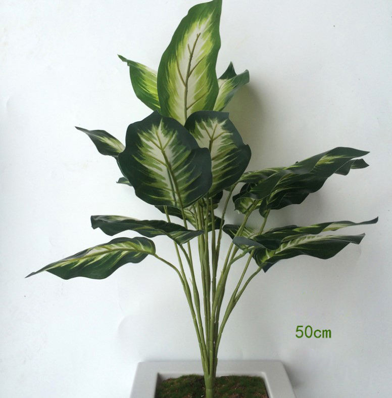 Artificial Plants Silk Bushes Real Touch Faux Greenery Leaf Arrangements Indoor Or Outdoor Garden Home Decor