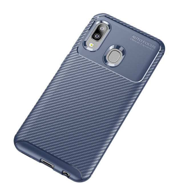 Beetle Carbon Fiber Silicone Tpu Back Cover Case for Huawei Enjoy 9s/P10 Lite/P10/P Smart 2019