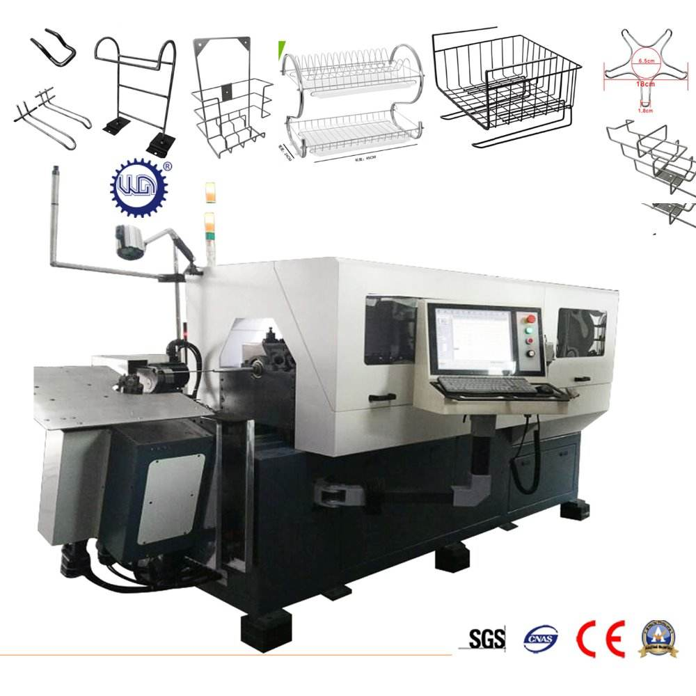 10 Axis Automatic 3D CNC Metal Multifunction Wire Bending Machine with Cutting