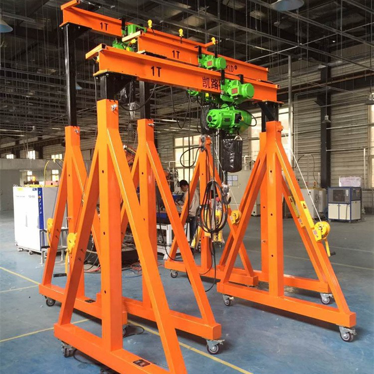 Hot Selling 10T Simple Structure Manual Small Gantry Crane Price On Port