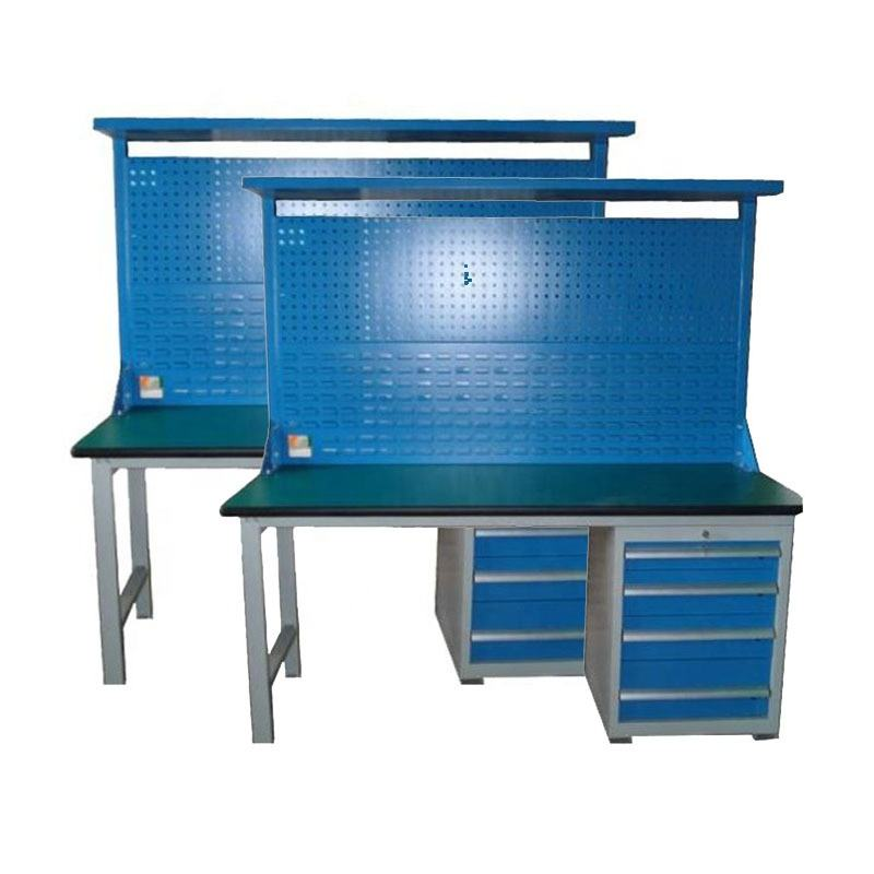 Manufacturers spot workshop bench work bench side by side three draw belt hanging plate with light heavy duty esd work table