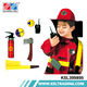 Cosplay clothes suit pvc material boys fireman costume for kids