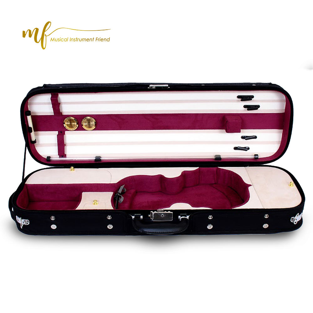 Deluxe oblong shape wooden violin case