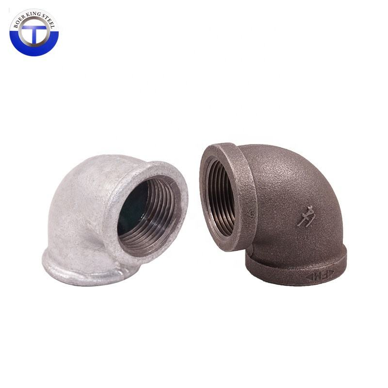 "NR Black Malleable Iron Cast Pipe Fitting Elbow 90 Degree 1/2"", DIY Pipe Furniture, 1/2 Inch Threaded Pipe fitting"