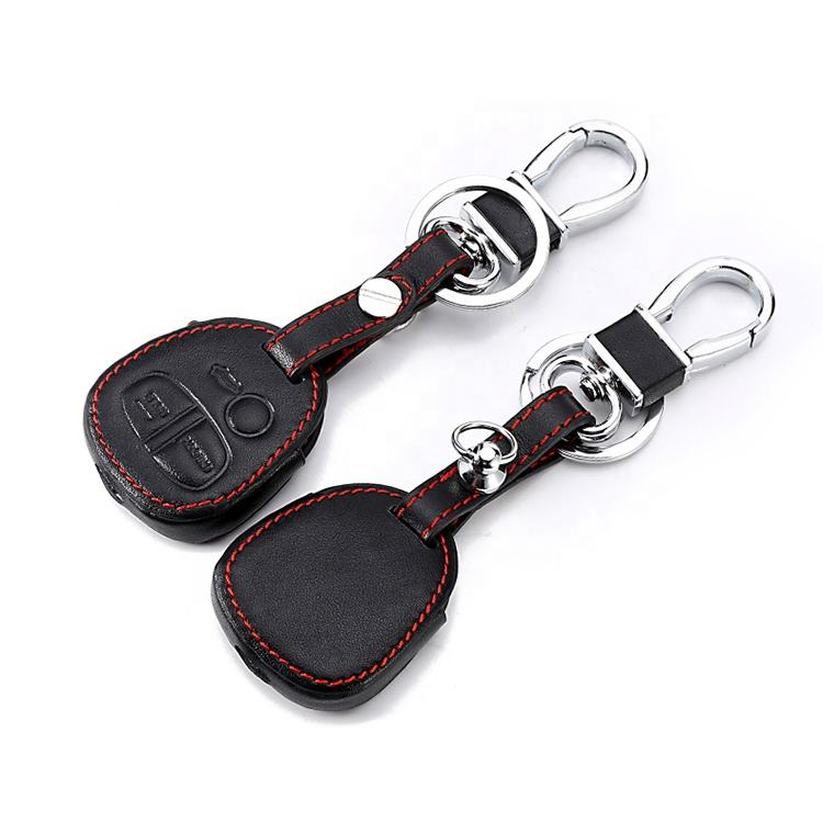 New design Genuine Leather cover wallet key remote case For Mitsubishi outlander ASX colt LANCER Grandis Pajero sport 2 buttons