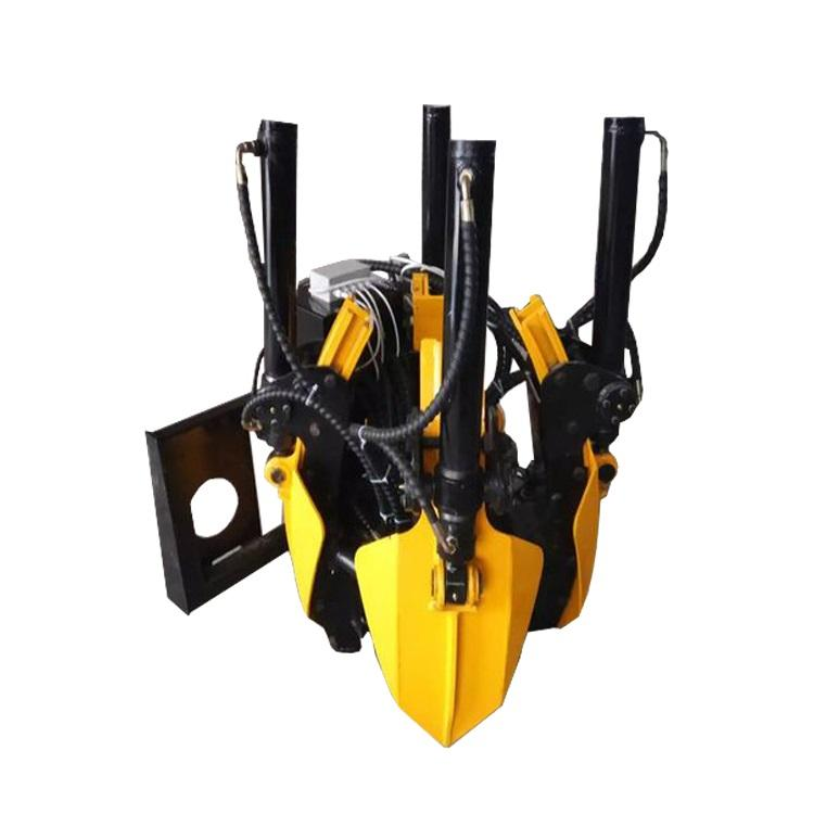 skid steer loader tree spade attachment