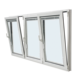 PVC side hung window/upvc tilt and turn windows