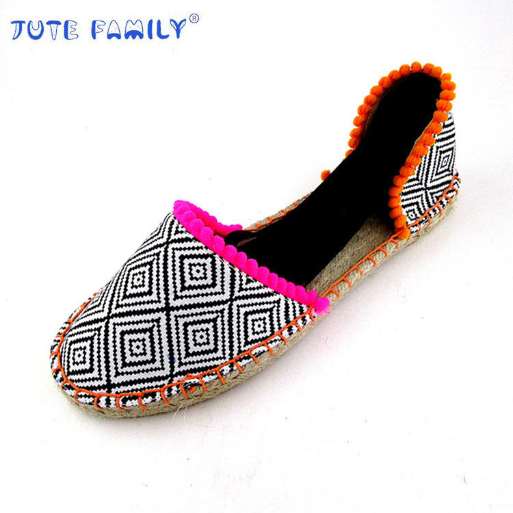 Manufacturer Low Price wholesale Jute Espadrille Sandals Women's Shoe