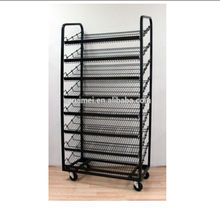 Bakery Store Instore Advertising Equipment Movable Floorstanding Cheap Bread Display Rack