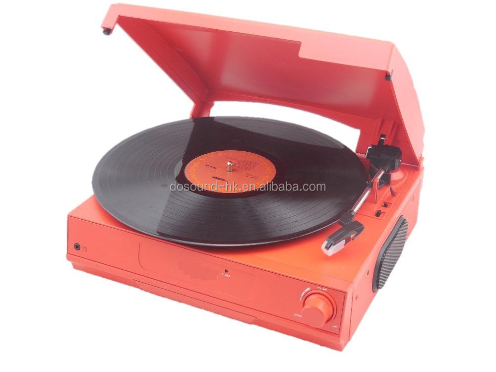 Portable vinyl record frame modern gramophone turntable cd record cassette radio player