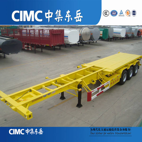 CIMC Trailer Builder of Triple Axles Skeleton Container Trailer, Truck Trailers to Haule Shipping Containers