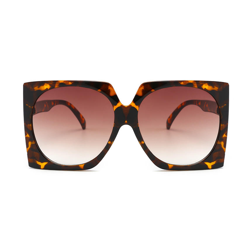 24237 Superhot Eyewear 2019 Square Fashion Oversized Leopard Women Sunglasses