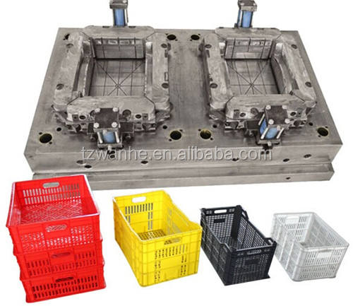 plastic beer fruit transfer containerbarrel Storage turnover box injection mould in taizhou huangyan