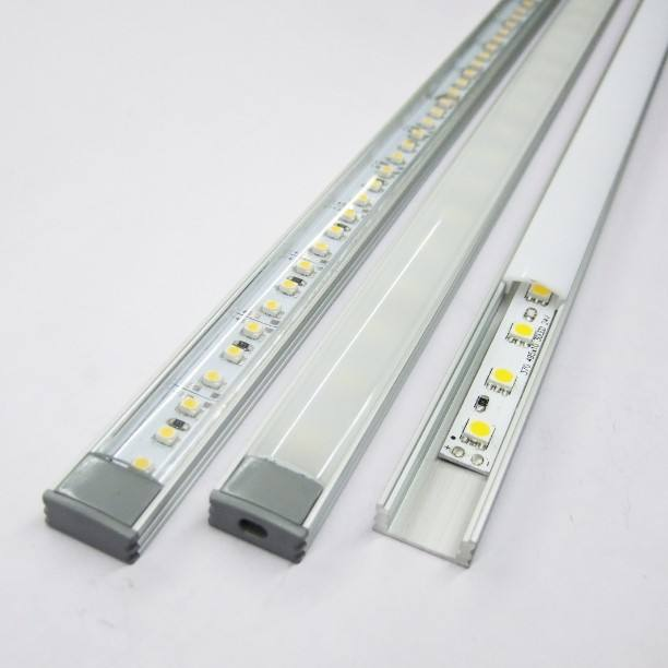 U aluminum profile 5630 white color rigid led strip with PC cover