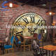 3D custom stereo industrial wind retro wallpaper mural restaurant cafe bar KTV clothing store wallpaper