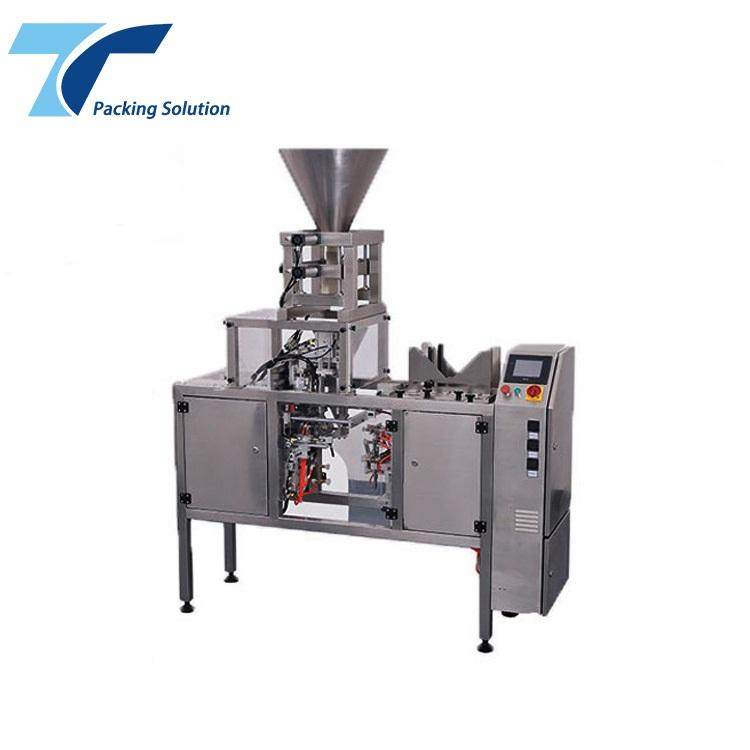 Automatic granule rice sugar bean tea pearl packer nuts packing machine detergent powder cup filling packing machine