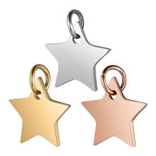 Men and Women Jewelry Stainless Steel Star Shape Pendant Gold Rose Plated Charms