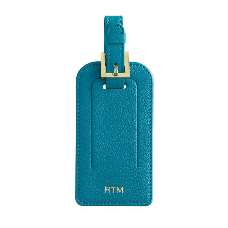 custom genuine leather high quality durable luggage tags