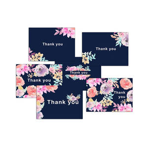Customized 컬러 풀 한 종이 Thank You Cards, (High) 저 (Quality Custom 종이 Cards, Thank You Cards
