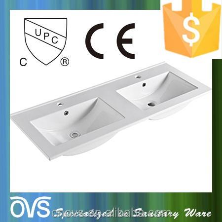 Doble fregadero, cerámica lavabo del fregadero lavabo rectangular