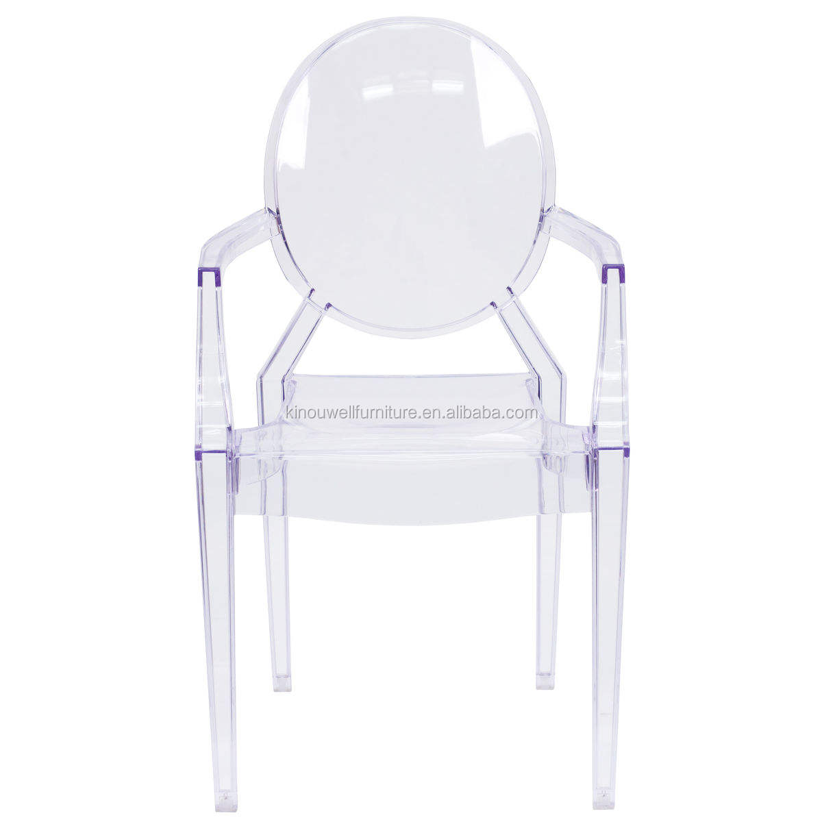 wholesale clear transparent crystal ghost chair with arms