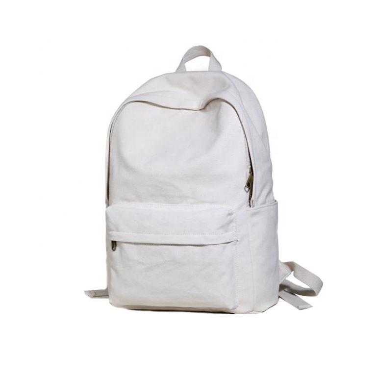 Men's backpack female Korean version of the tide light retro literary cotton canvas backpack student bag
