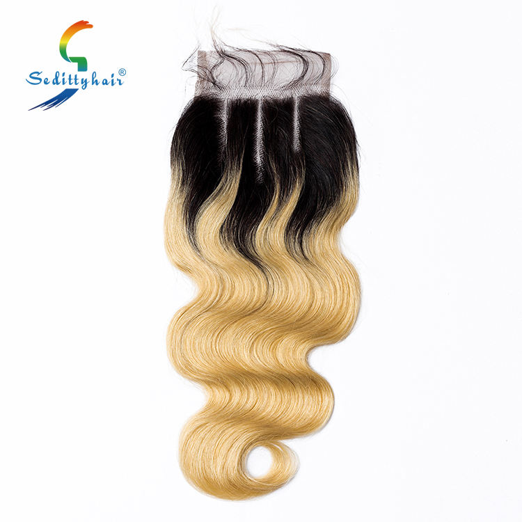 Hair lace 100% virgin remy human hair weave closure