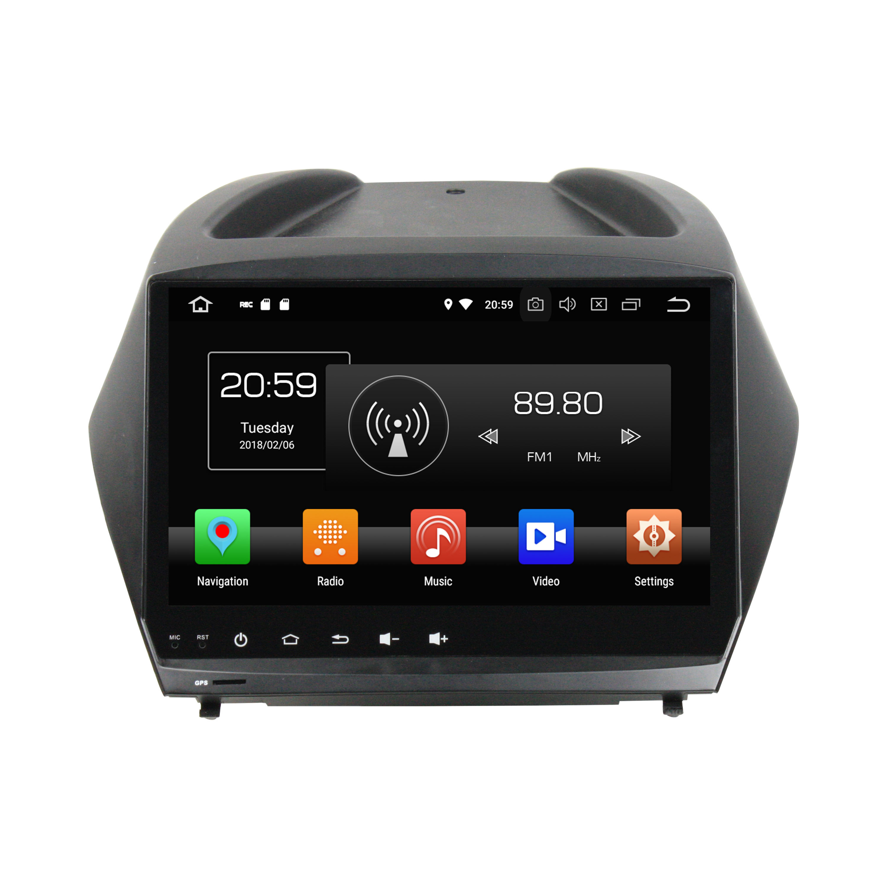 KLYDE Android 8. 0 octa core px5 nxp6686 radio 9 zoll 2 din auto multimedia system für IX35/Tucson 2011-2015