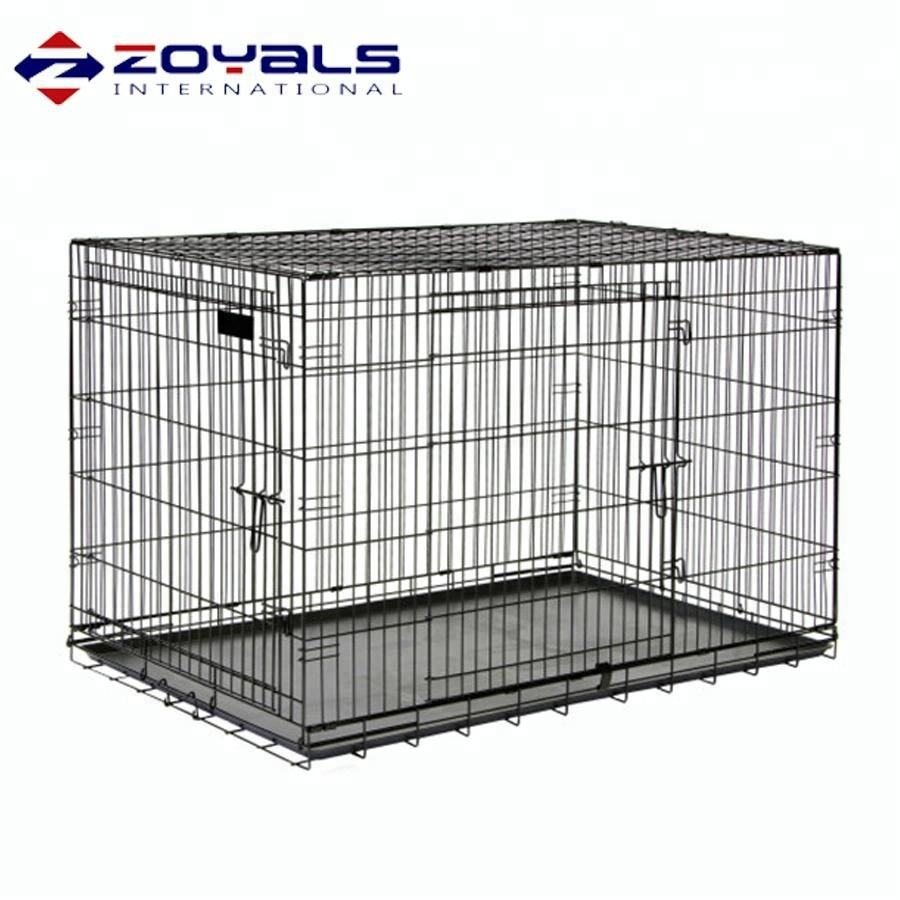 Eco-Friendly Portable and Foldable Breathable Metal Wire Dog Crates Cages Kennels