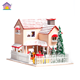 Wood Selling Music Wooden Box Hot Selling Wooden Christmas House Wooden Music Box Christmas
