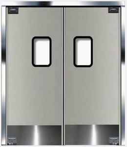 Double swing stainless steel restaurant kitchen door