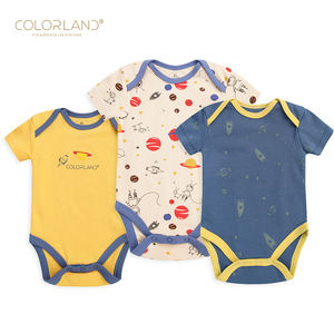 Aliexpress Top Selling 3 pcs Pack Sleeveless 100% Cotton Baby Boy Girl Baby Romper Clothes from 0 to 12 M
