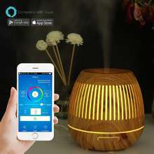NEW 400ML WIFI  ultra-quiet mini Ultrasonic anion heating Aroma diffuser  Diffuser with 7 colorful light