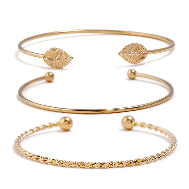 2018 Newest China Bangles Fashionable High Quality Charm Cheap Wholesale Alloy Cuff Bangles Bracelet Sets Women Ladies