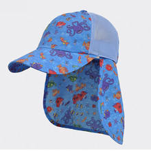 Custom summer upf 50 outdoor sun hat with neck cover flap