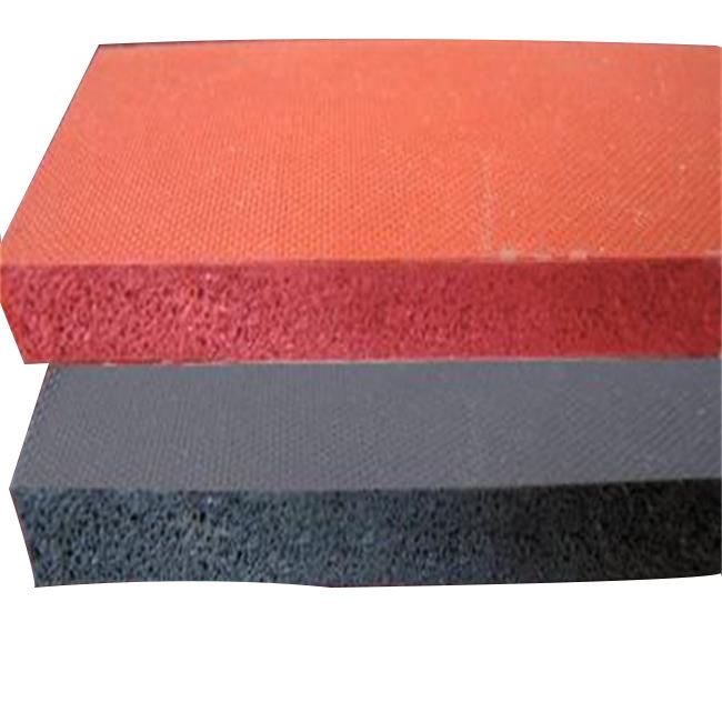 colorful silicone foam/sponge rubber sheet