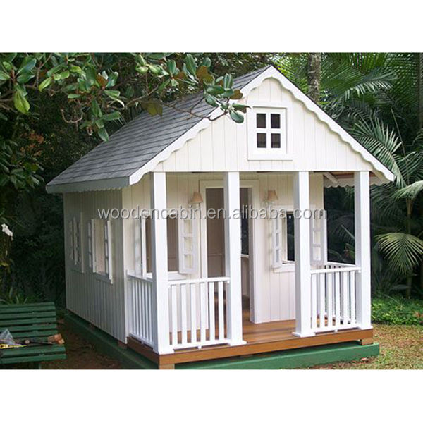 Top quality Modern design kids wooden playhouse for sale
