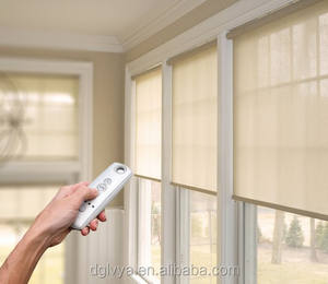 portable black out window blinds outdoor venetian motor electrical blinds breathable sunscreen window thin roller shades