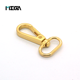 China suppliers zinc alloy small fitting light gold spring purse swivel snap hook wholesale bag hook handbag hook