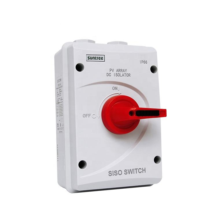 SISO-40 Series 4 P DC 1000 V Isolator Switch 32 Amp Tahan Air Disconnect Switches dengan TUV CE Saa Sertifikat