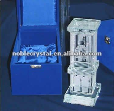 Noble custom Islamic Gift Crystal Wind Tower