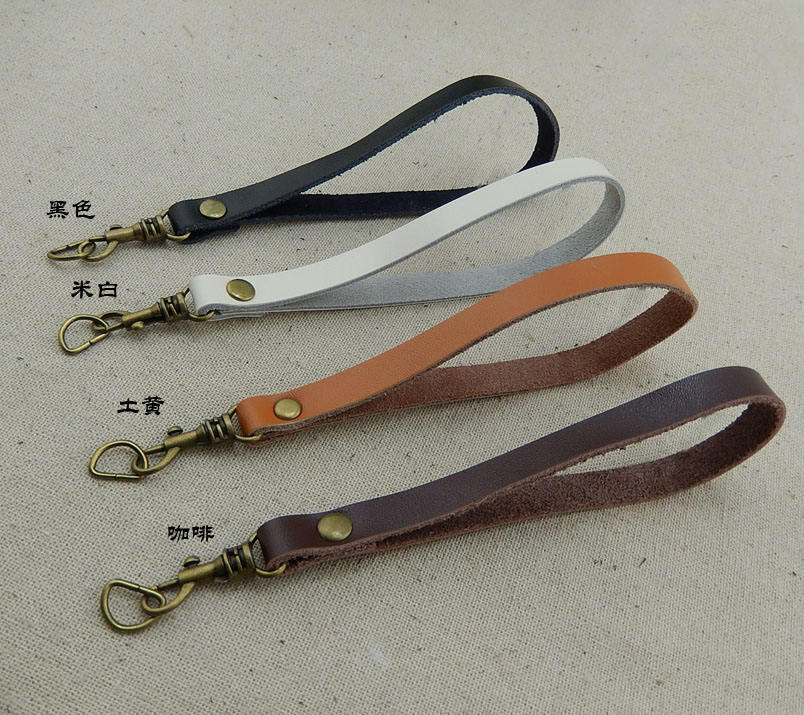 Handmade Band 17cm cow leather small bag handle