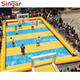 Giant outdoor inflatable sports playground/water soap football field