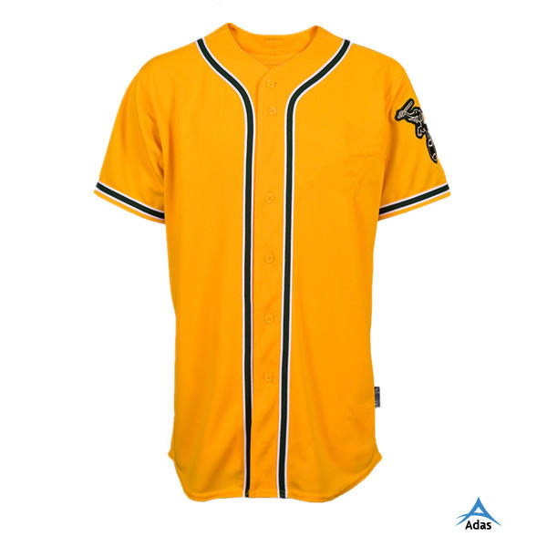 yellow color bulk usa youth baseball jerseys/softball jersey