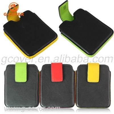 leather case for ipod Nano 7, leather pouch for ipod Nano 7