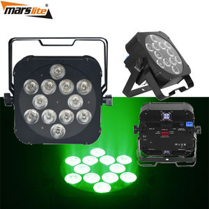 Party Light 12X18W RGBWA UV LED FLAT PAR Light/rgbwauv PAR LED Light/18W LED FLAT PAR LIGHT