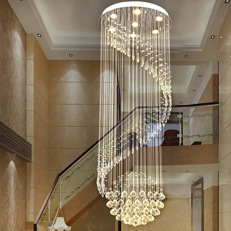 luxury modern classic hotel application lobby flush mount crystal chandeliers